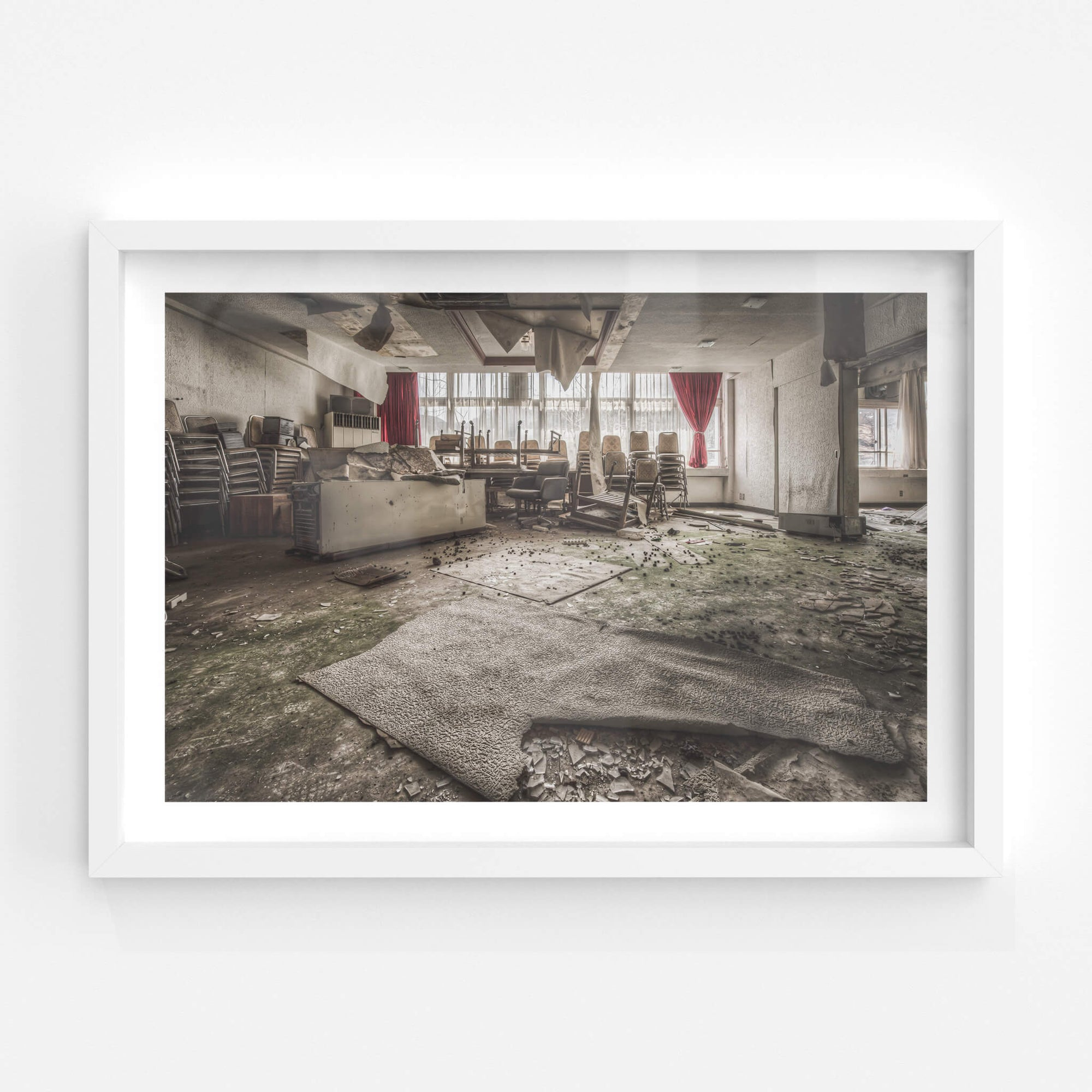Chair Storage Area | Family School Fureai Fine Art Print - Lost Collective Shop