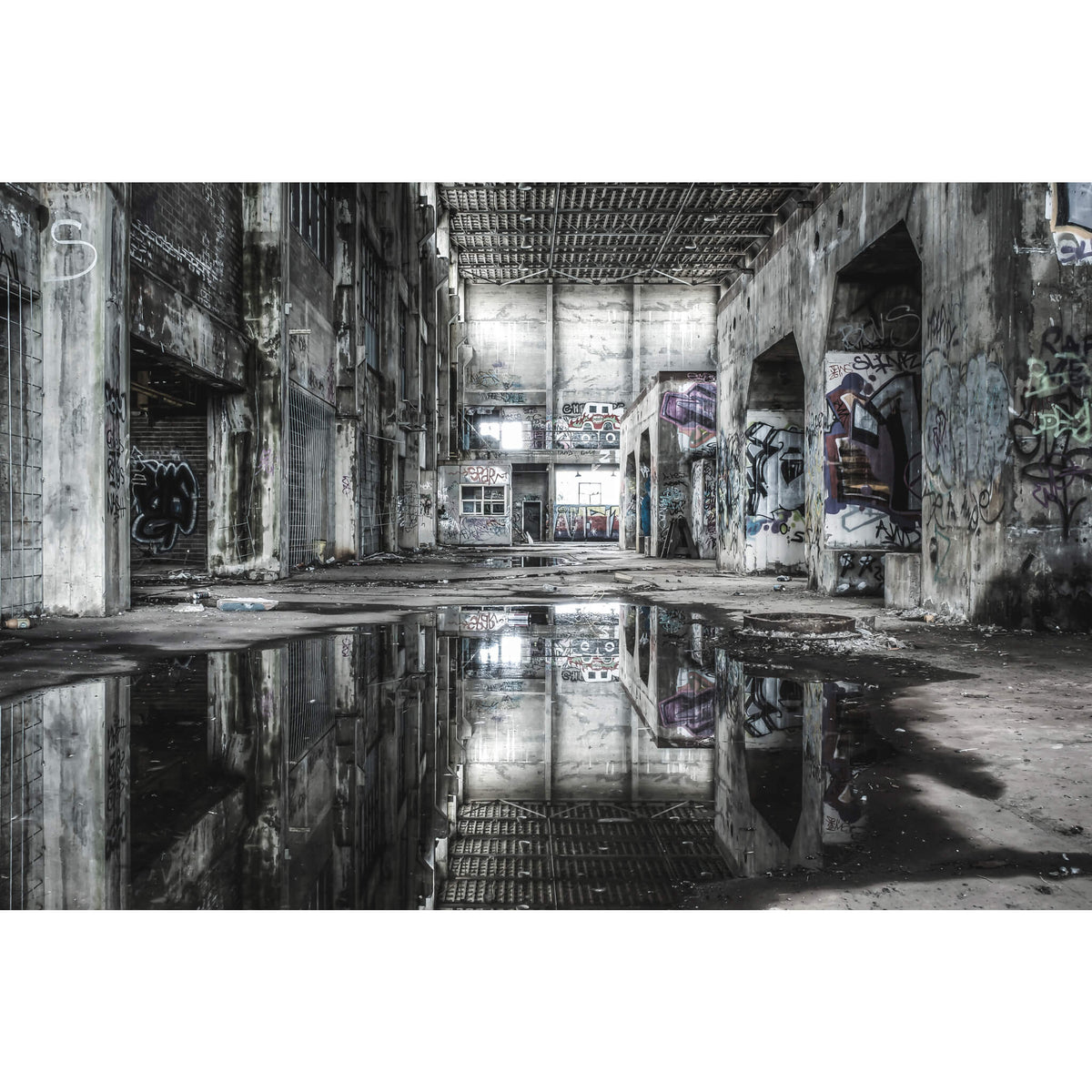 Turbine Hall Basement | Geelong B Power Station Fine Art Print - Lost Collective Shop