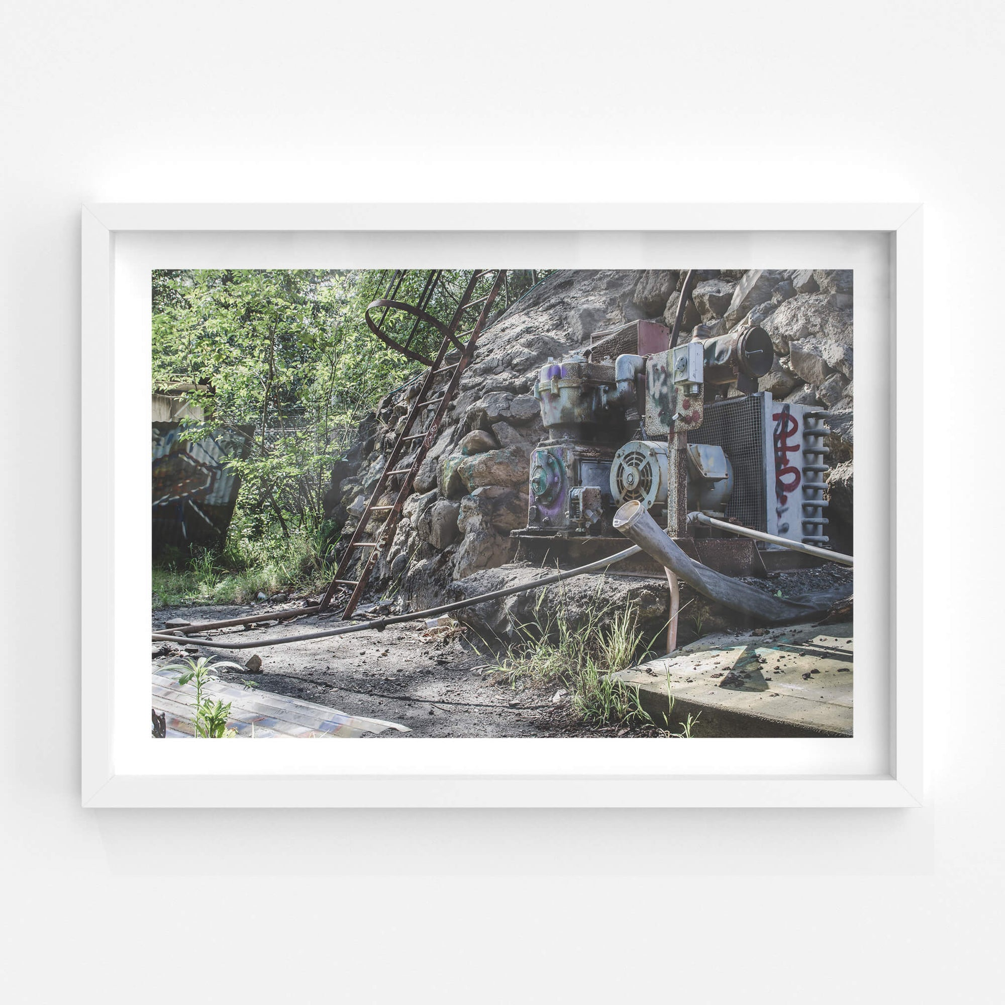 Air Compressor | Hornsby Quarry Fine Art Print - Lost Collective Shop