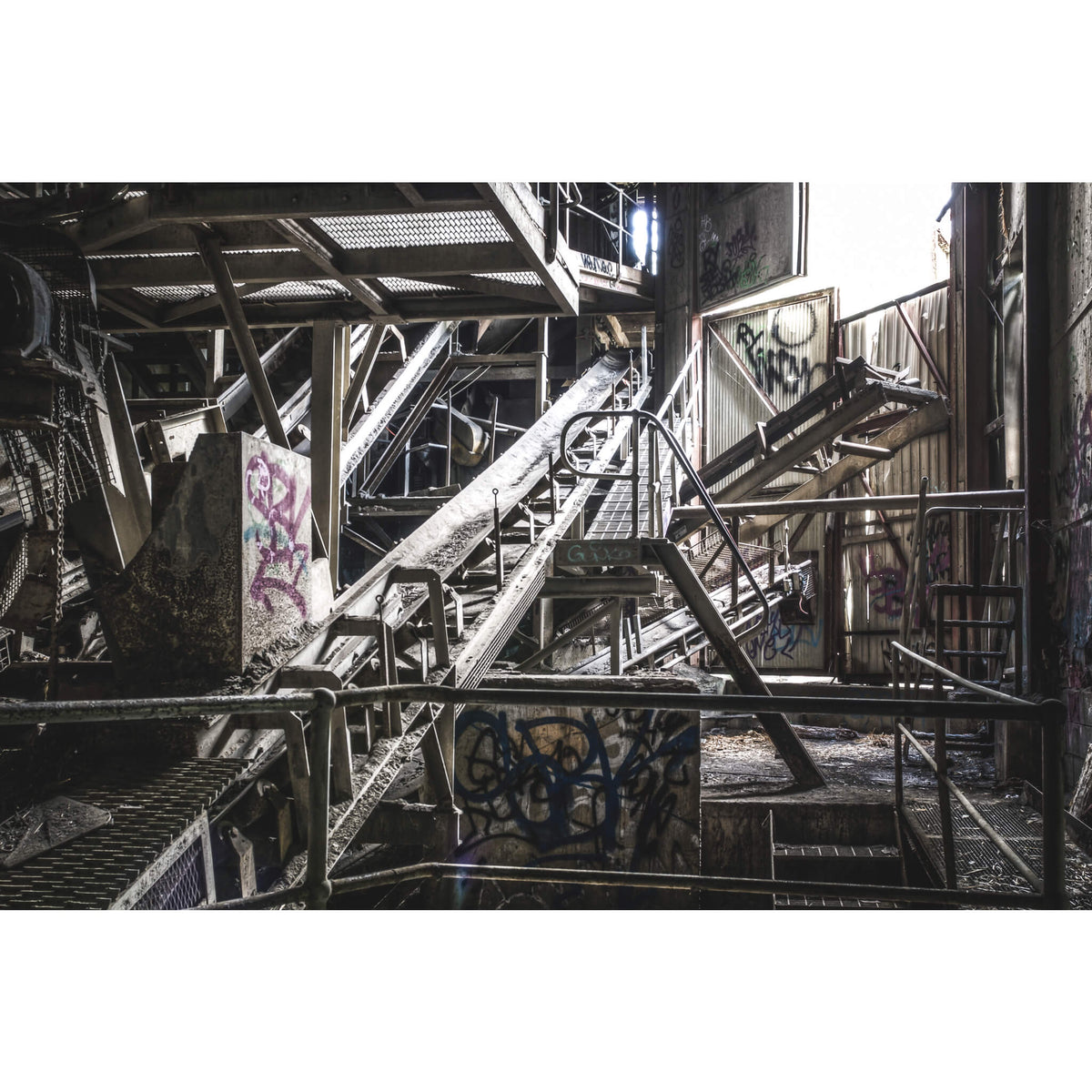 Screening Conveyor | Hornsby Quarry Fine Art Print - Lost Collective Shop