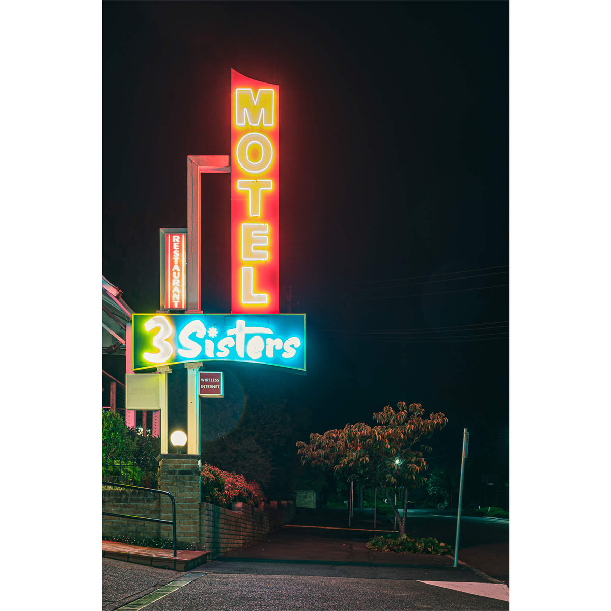 3 Sisters Motel Sign | Hotel Motel 101 Fine Art Print - Lost Collective Shop