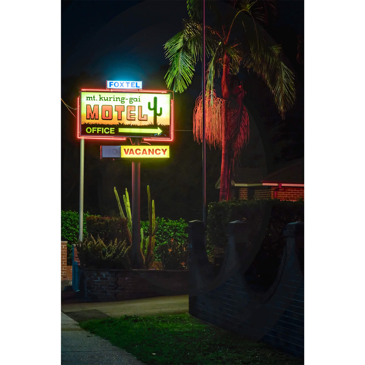 Mt Kuring-Gai Motel Sign | Hotel Motel 101 Fine Art Print - Lost Collective Shop