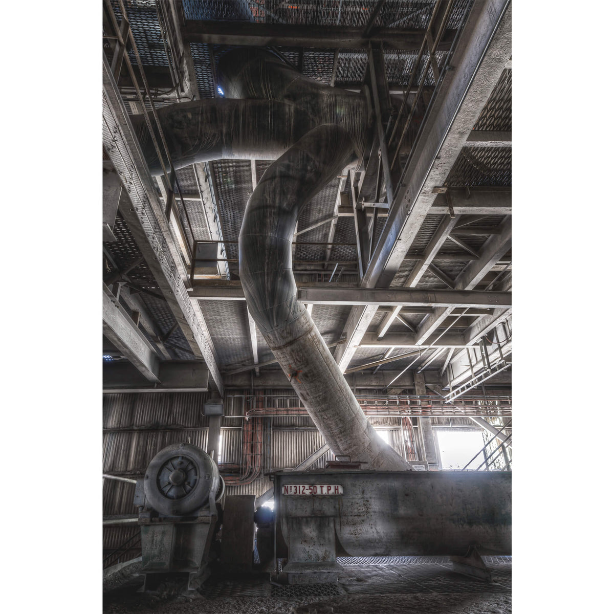 Grit Return Screw | Kandos Cement Works Fine Art Print - Lost Collective Shop