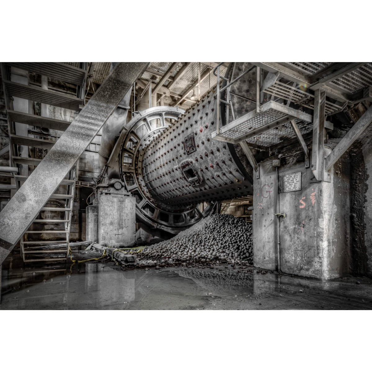Number Six Raw Mill | Kandos Cement Works Fine Art Print - Lost Collective Shop