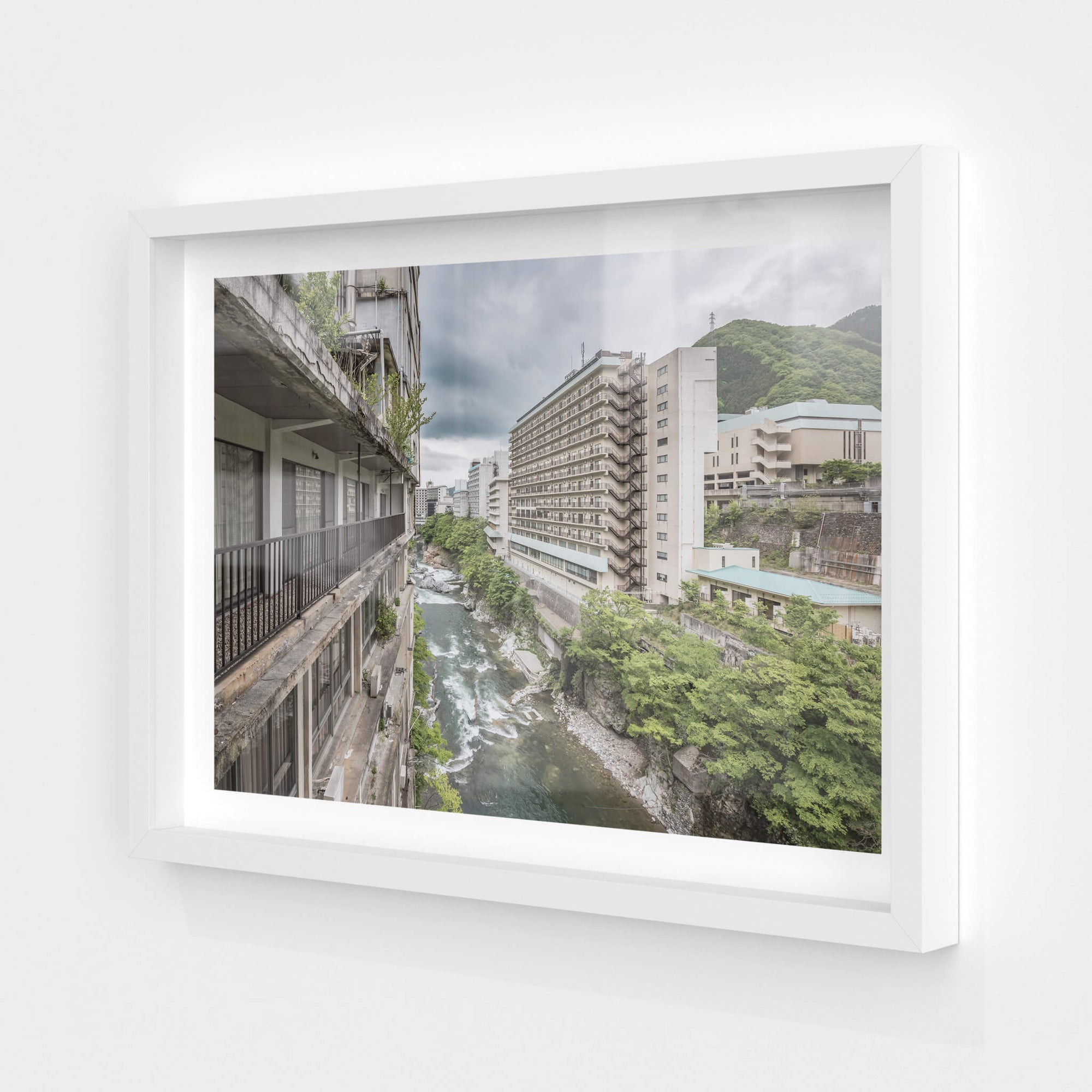 Balcony Looking Downstream | Kinugawa Kan Fine Art Print - Lost Collective Shop