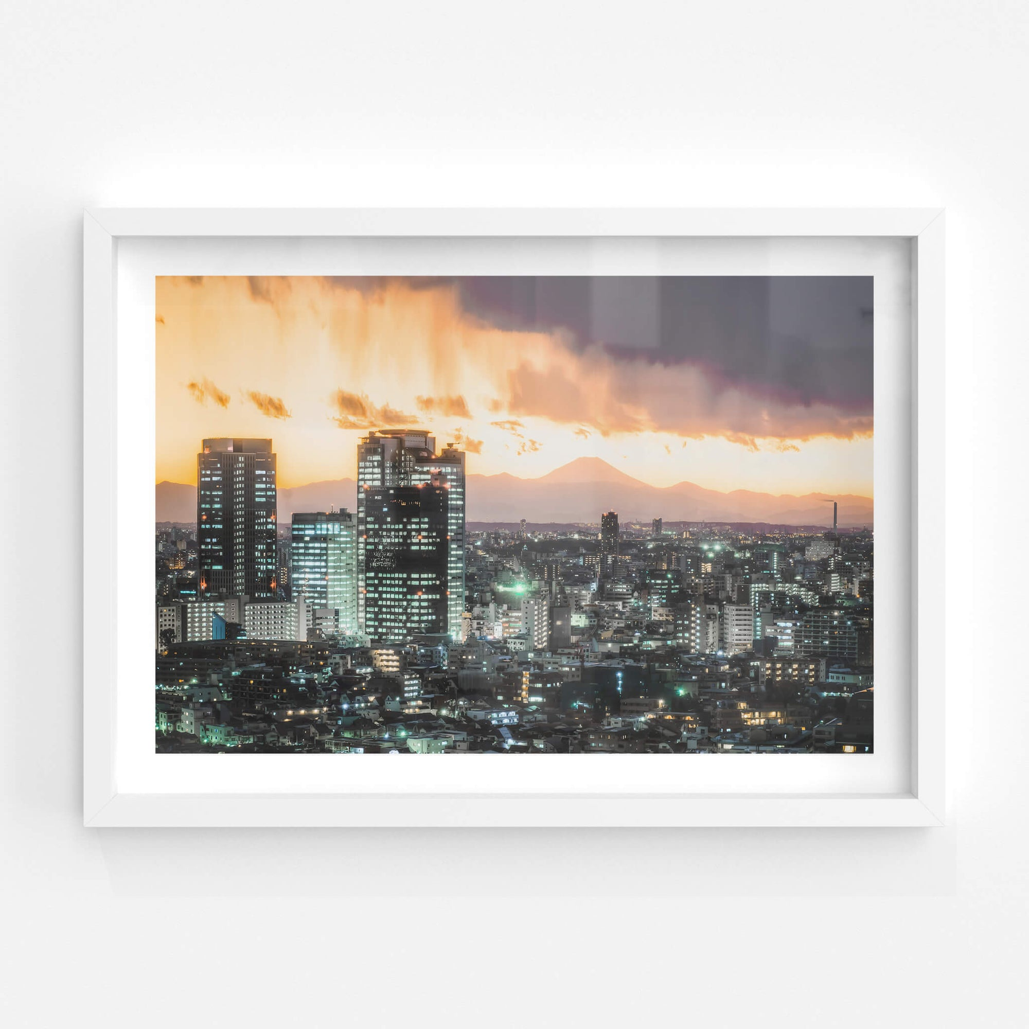 Shinjuku To Mt Fuji | Landscapes Fine Art Print - Lost Collective Shop