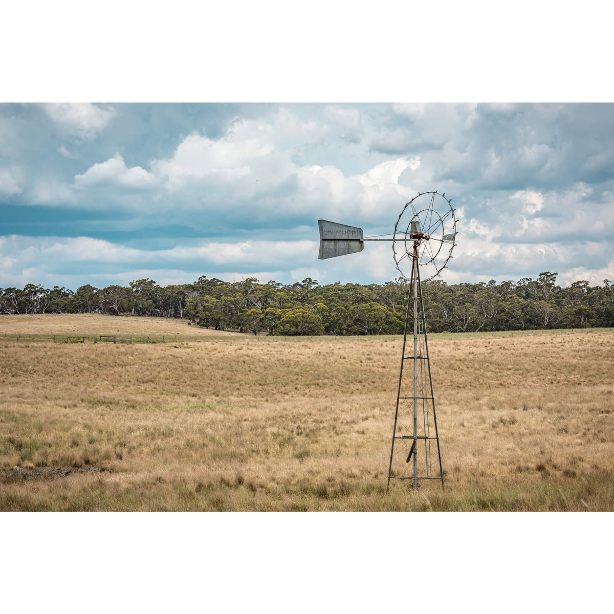 Snowy Mountains Windmill | Landscapes Fine Art Print - Lost Collective Shop
