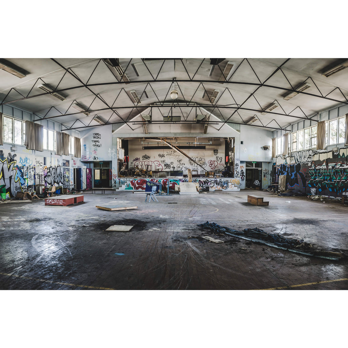 Assembly Hall | Macquarie Boys Technology High Fine Art Print - Lost Collective Shop