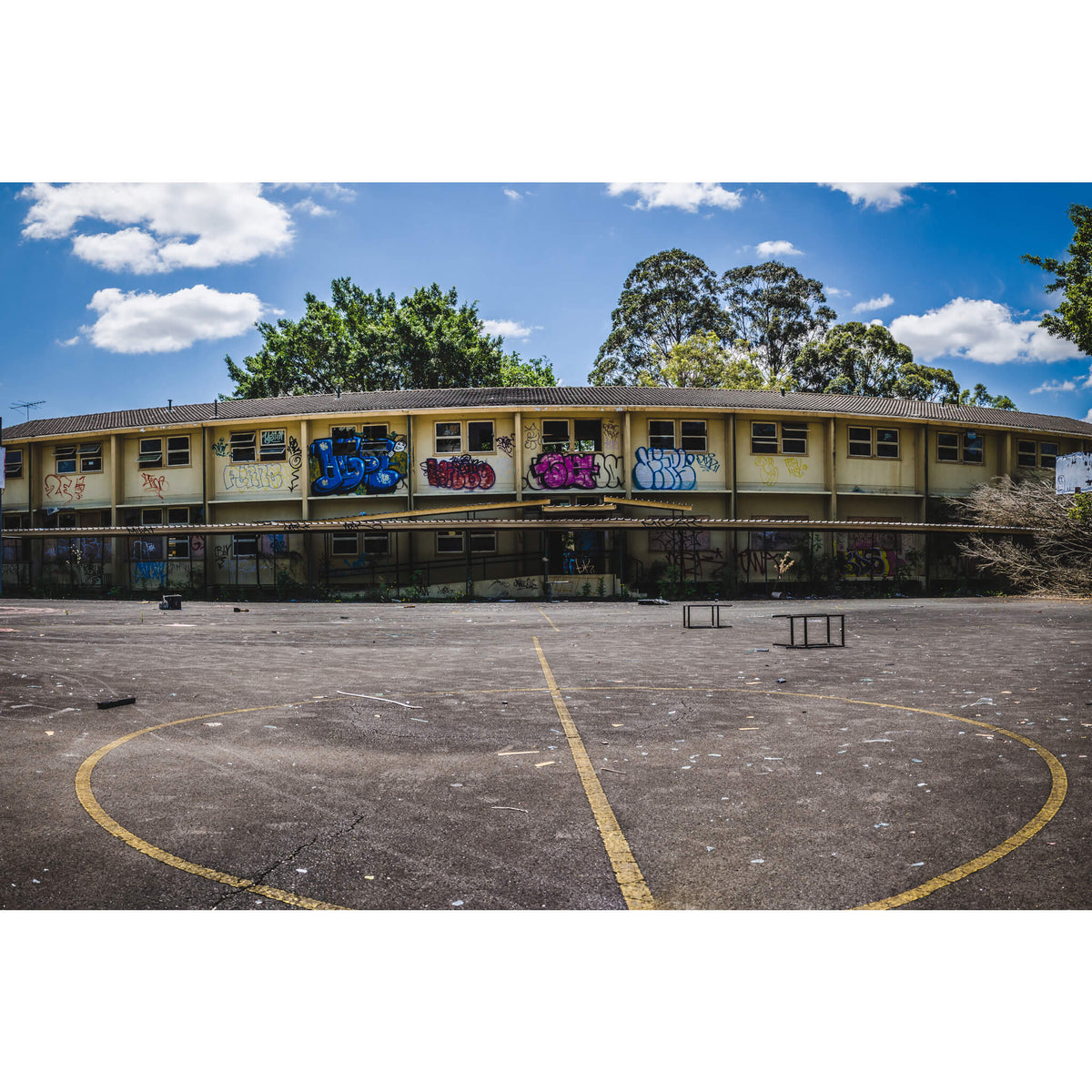 Basketball Court Panorama | Macquarie Boys Technology High