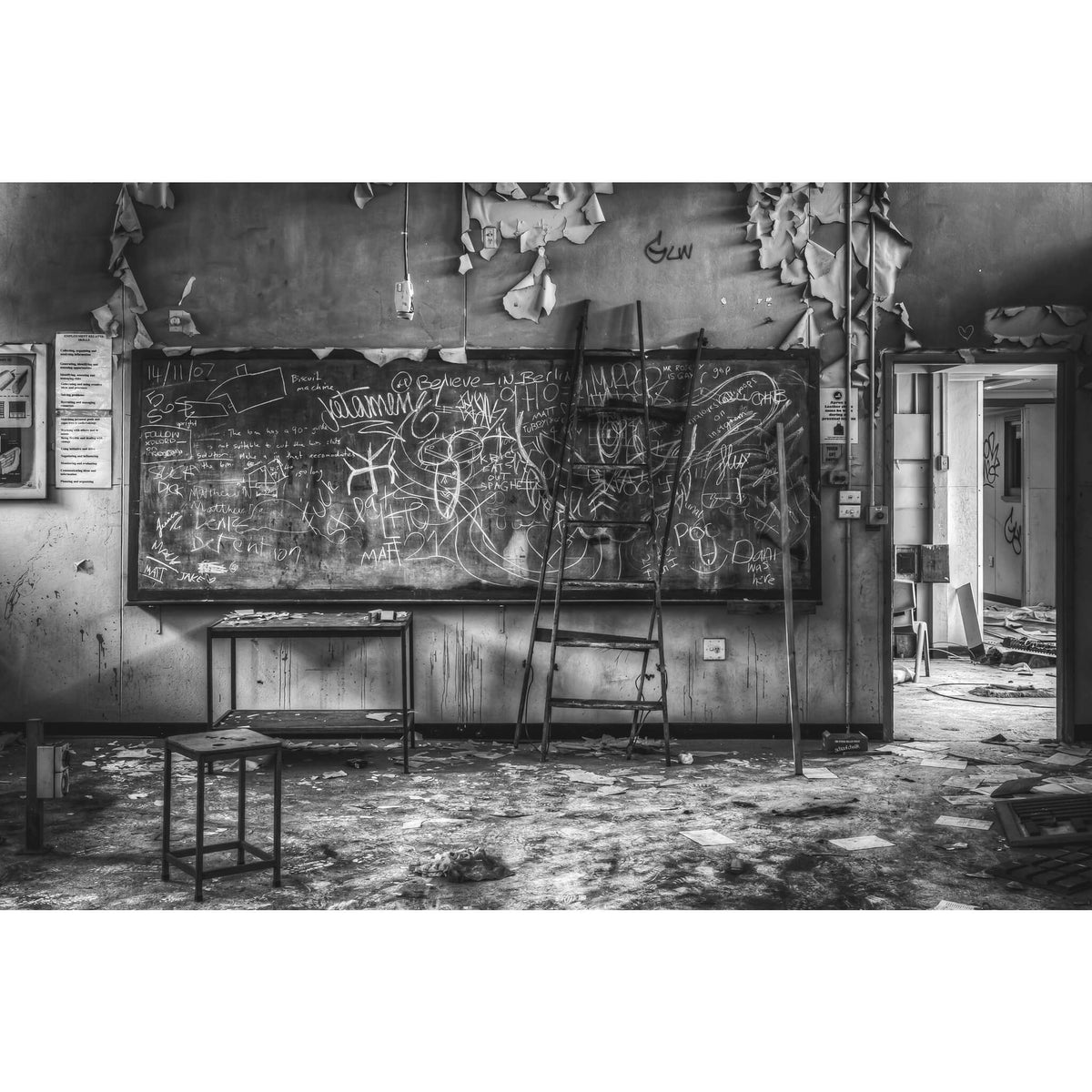 Blackboard | Macquarie Boys Technology High Fine Art Print - Lost Collective Shop