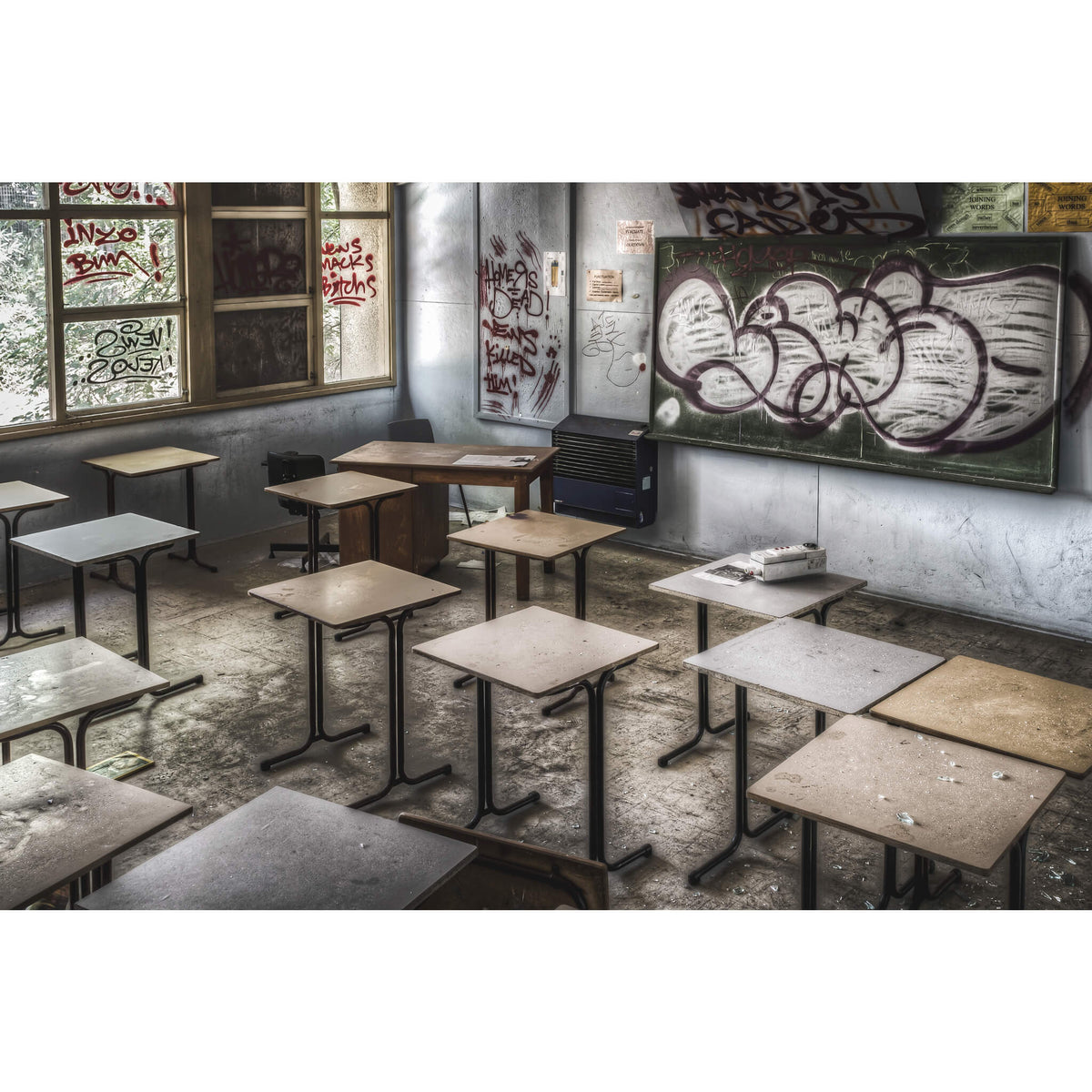 Classroom | Macquarie Boys Technology High Fine Art Print - Lost Collective Shop