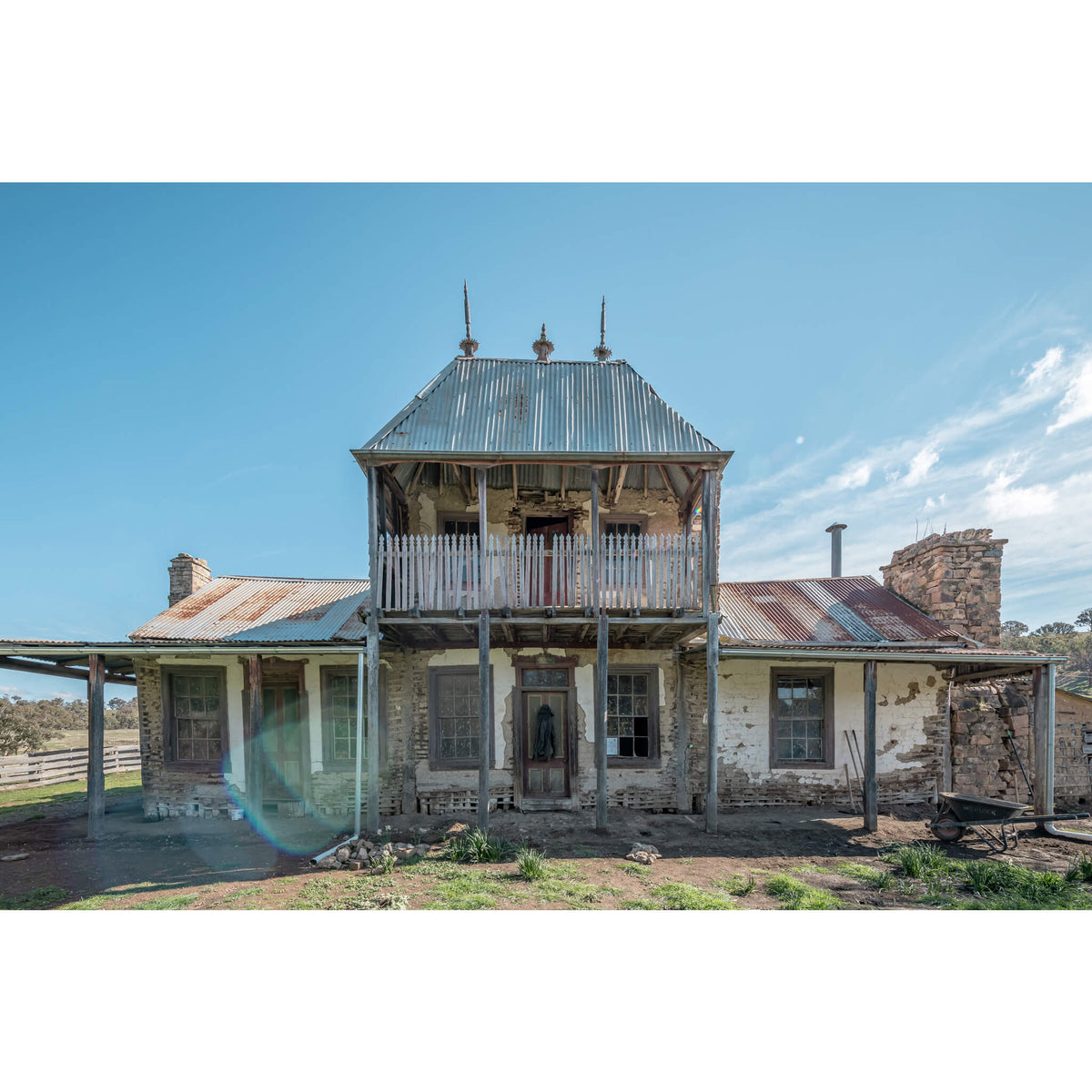 Front Facade | Mountain View Homestead Fine Art Print - Lost Collective Shop