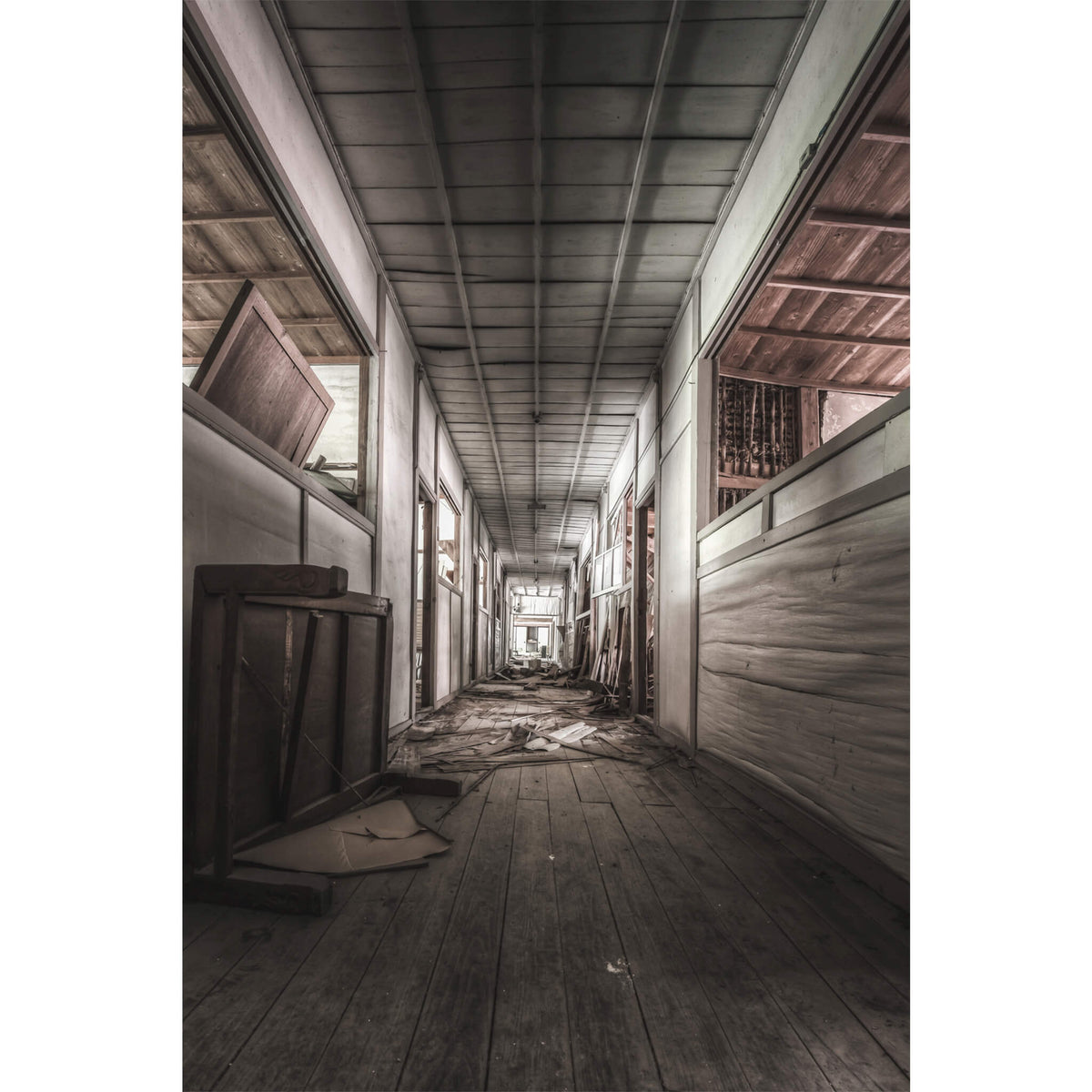 School Hall | Nichitsu Mining Village Fine Art Print - Lost Collective Shop