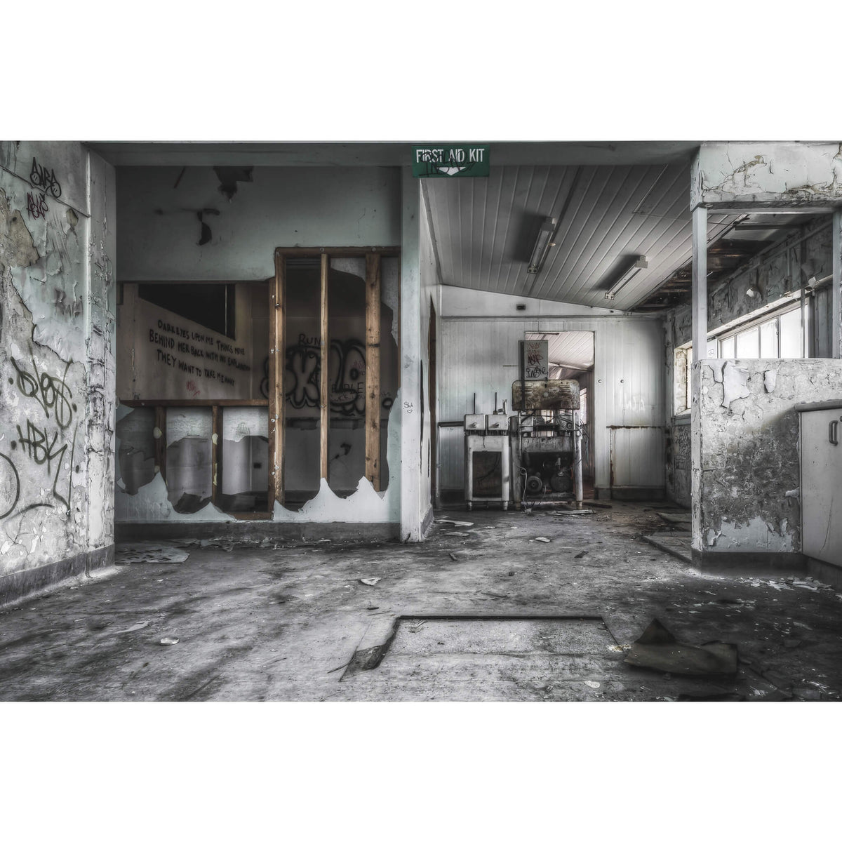 First Floor Laboratory | Peters' Ice Cream Factory Fine Art Print - Lost Collective Shop