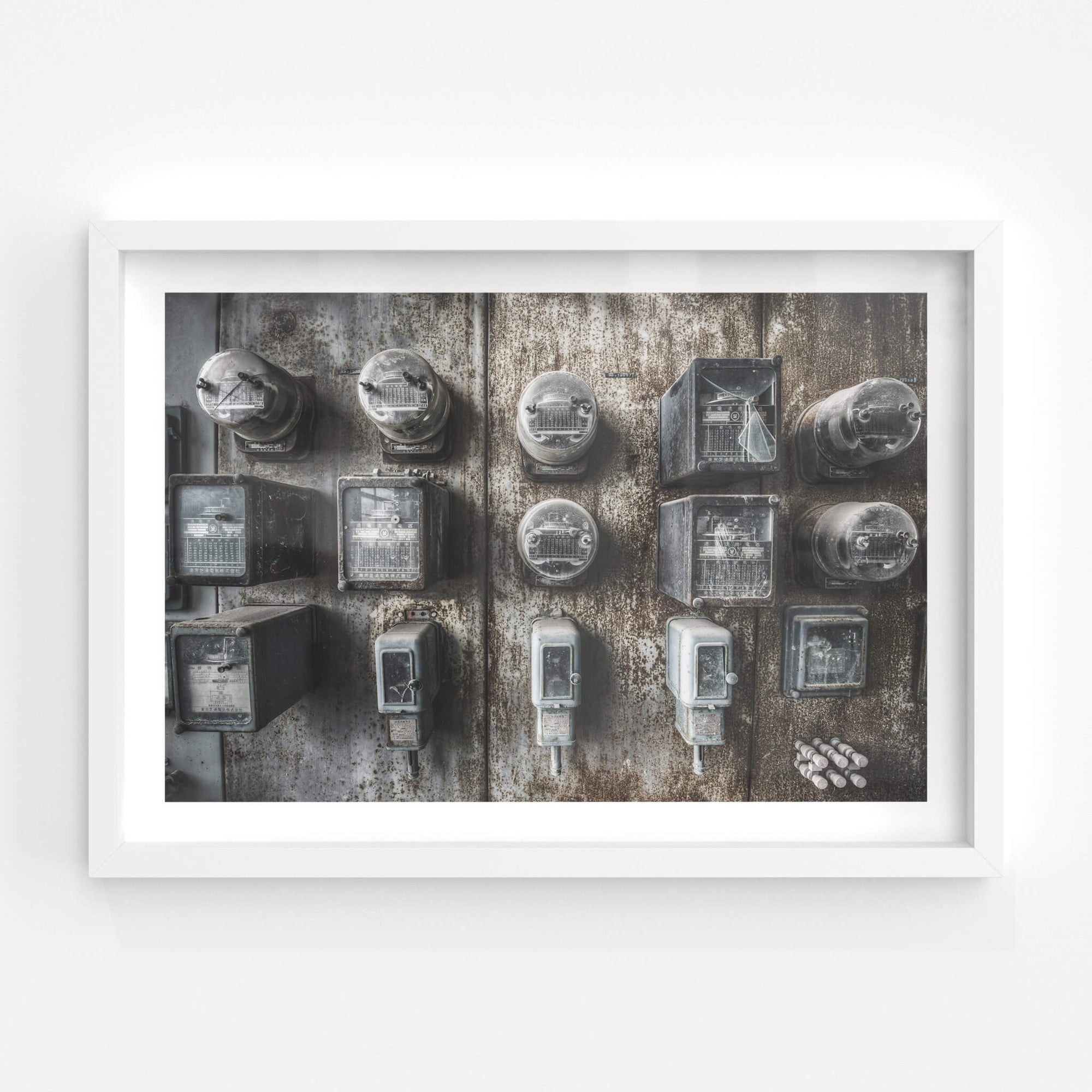 Meters | Shimizusawa Thermal Power Plant Fine Art Print - Lost Collective Shop