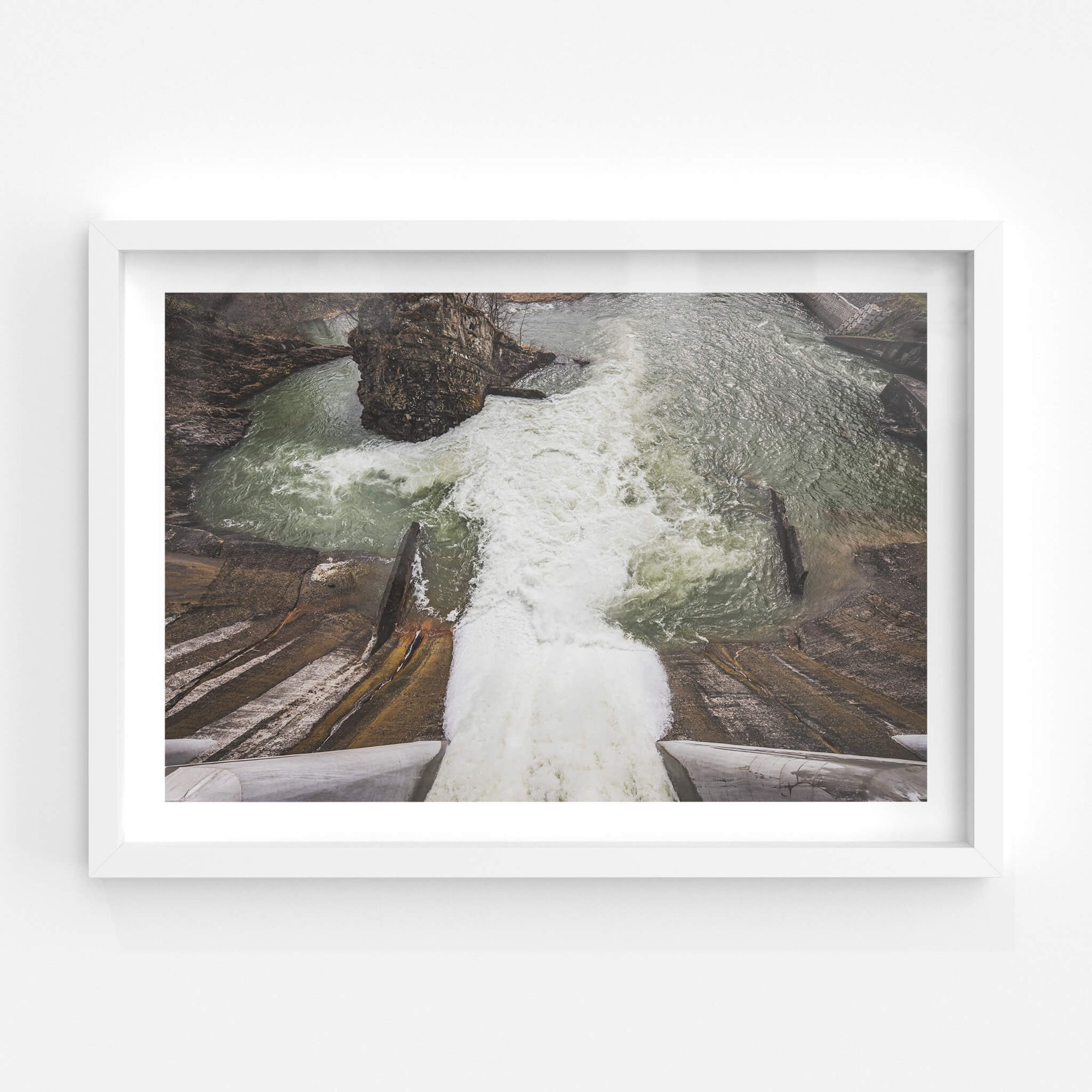 Spillway | Shimizusawa Thermal Power Plant Fine Art Print - Lost Collective Shop