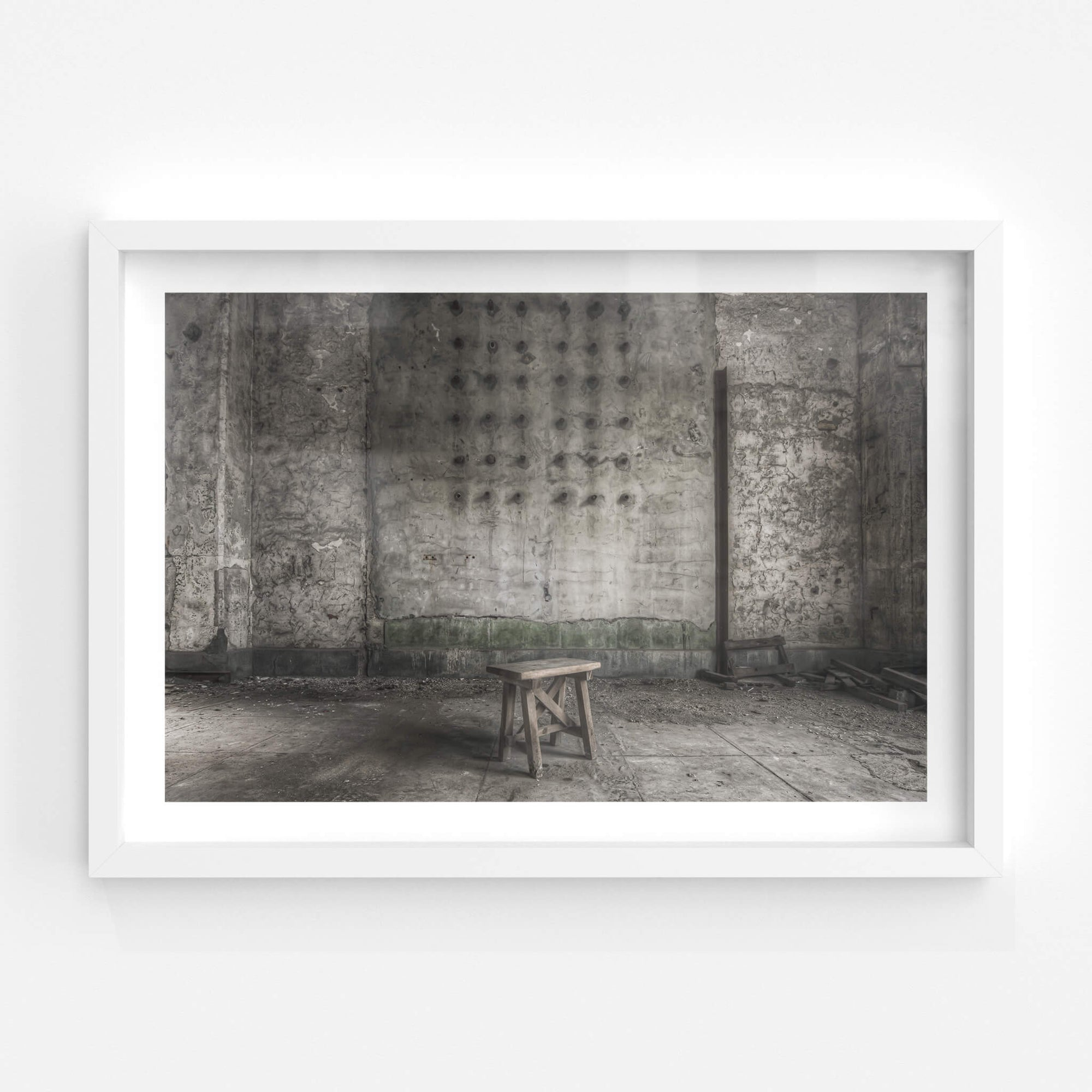 Stool | Shimizusawa Thermal Power Plant Fine Art Print - Lost Collective Shop