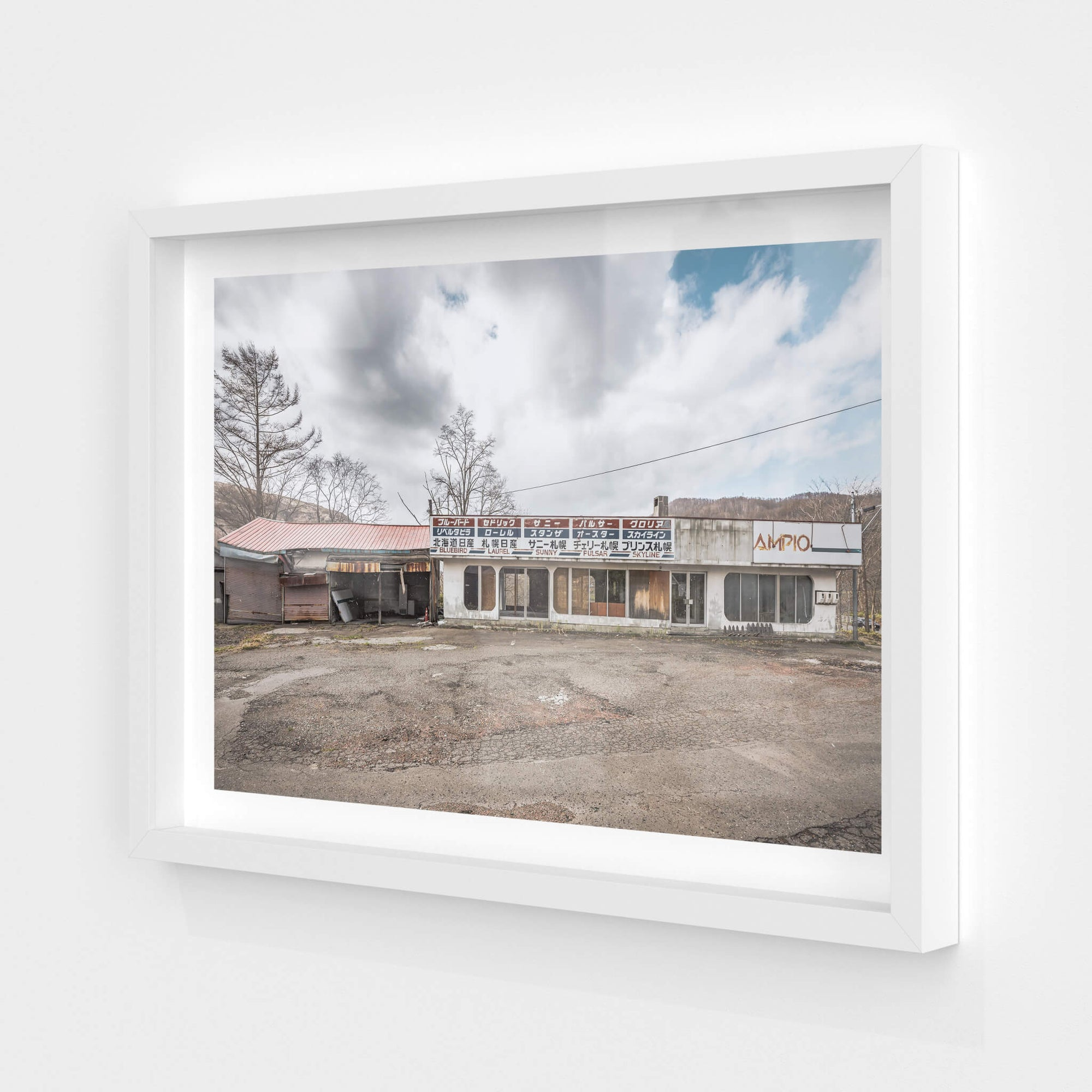 Nissan Car Dealership | Streetscapes of Yubari Fine Art Print - Lost Collective Shop