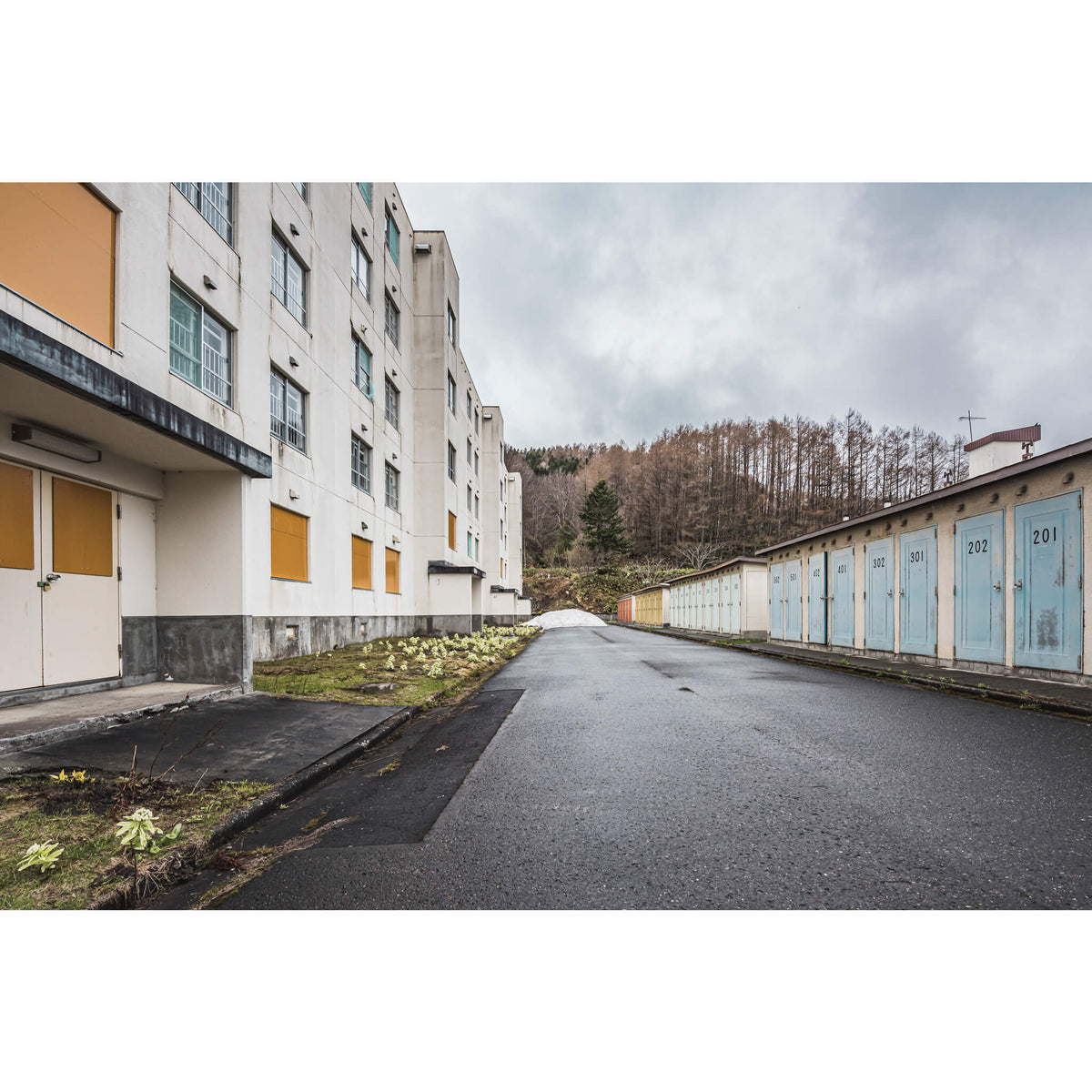 Public Housing and Storage | Streetscapes of Yubari Fine Art Print - Lost Collective Shop