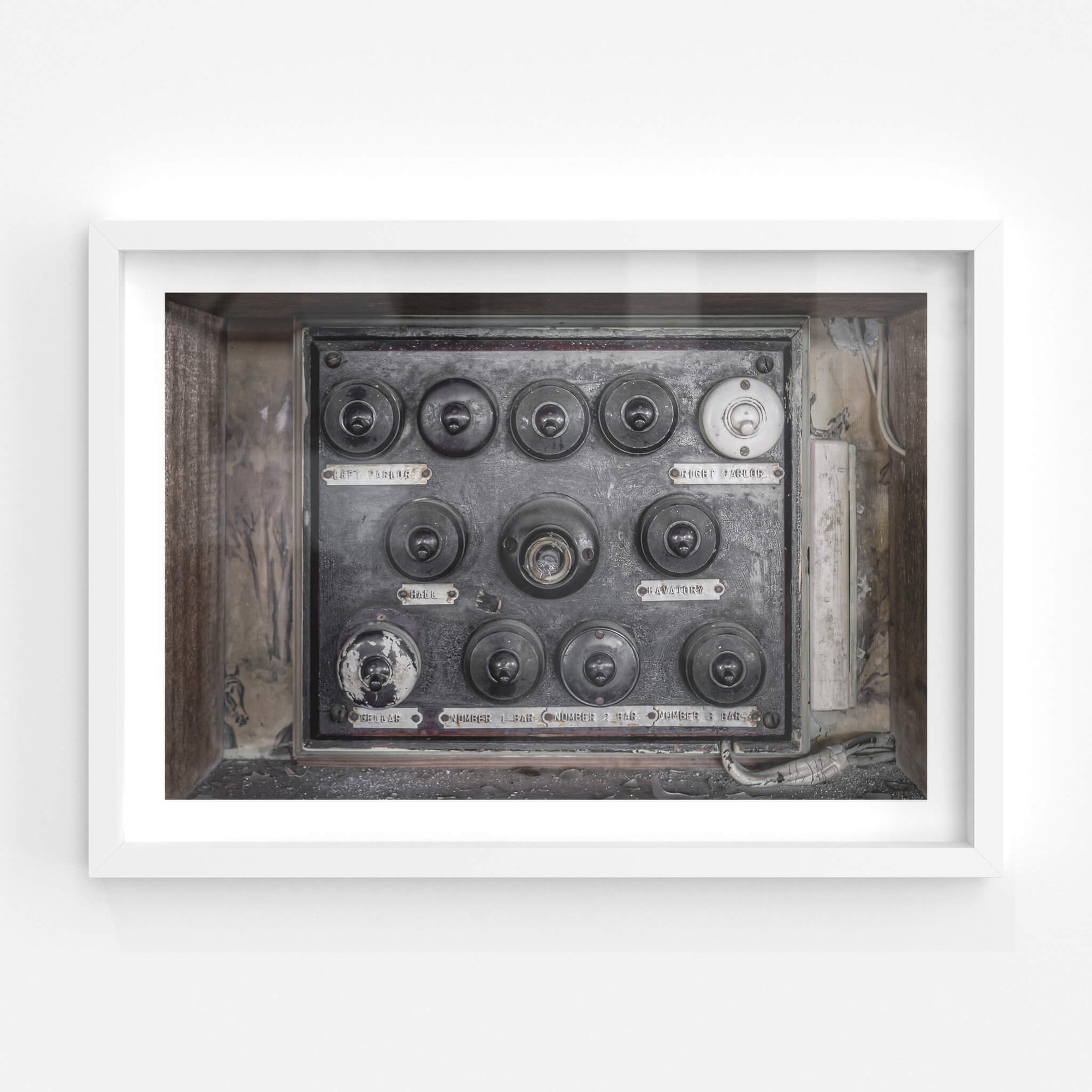 Downstairs Light Switches | Terminus Hotel Fine Art Print - Lost Collective Shop
