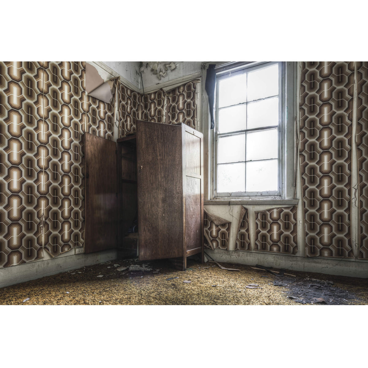 Wallpapered Guest Room | Terminus Hotel Fine Art Print - Lost Collective Shop