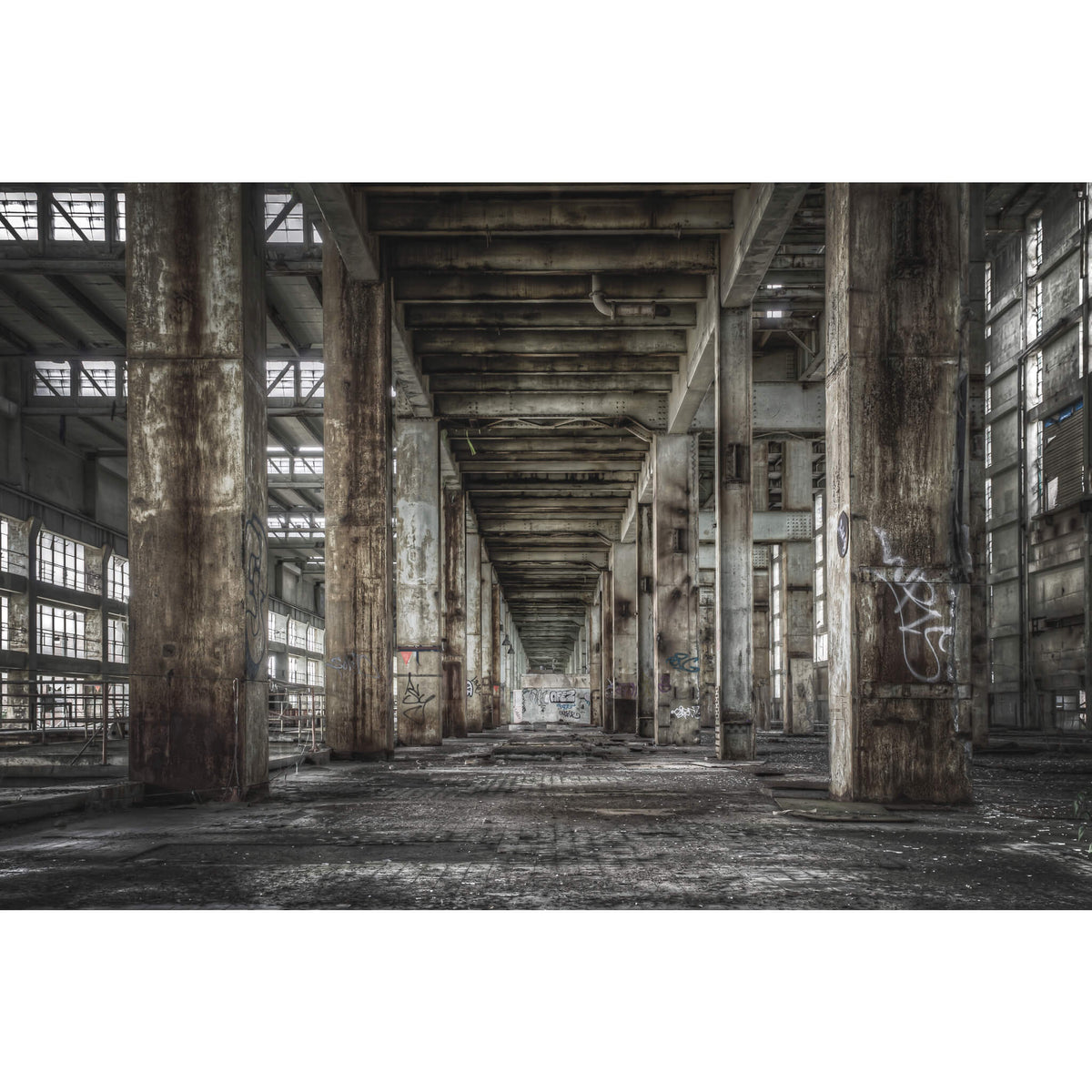 B Station Between Turbine Hall And Boiler House | Wangi Power Station Fine Art Print - Lost Collective Shop
