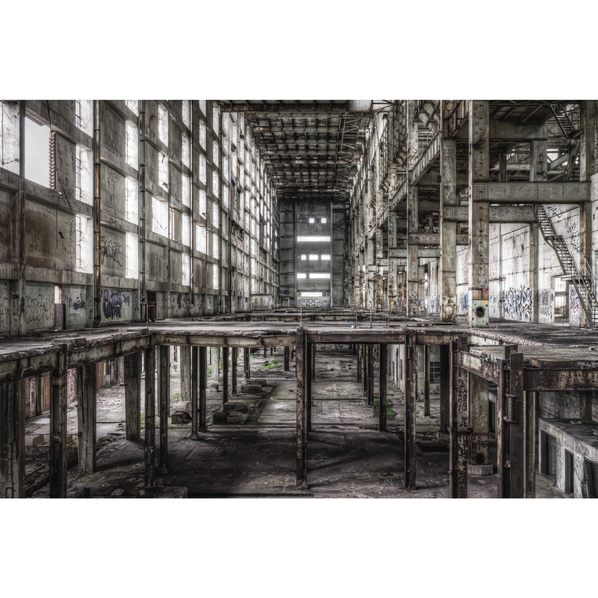 Boiler House Looking From A Station To B | Wangi Power Station Fine Art Print - Lost Collective Shop
