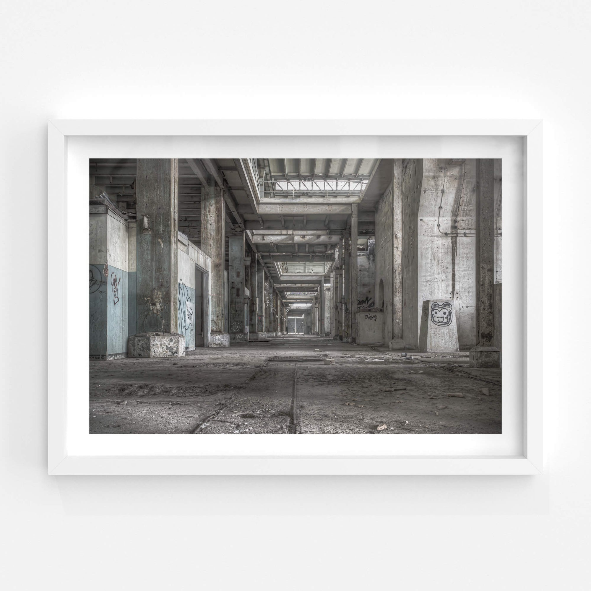 Turbine Hall Basement Looking Towards B Station | Wangi Power Station Fine Art Print - Lost Collective Shop