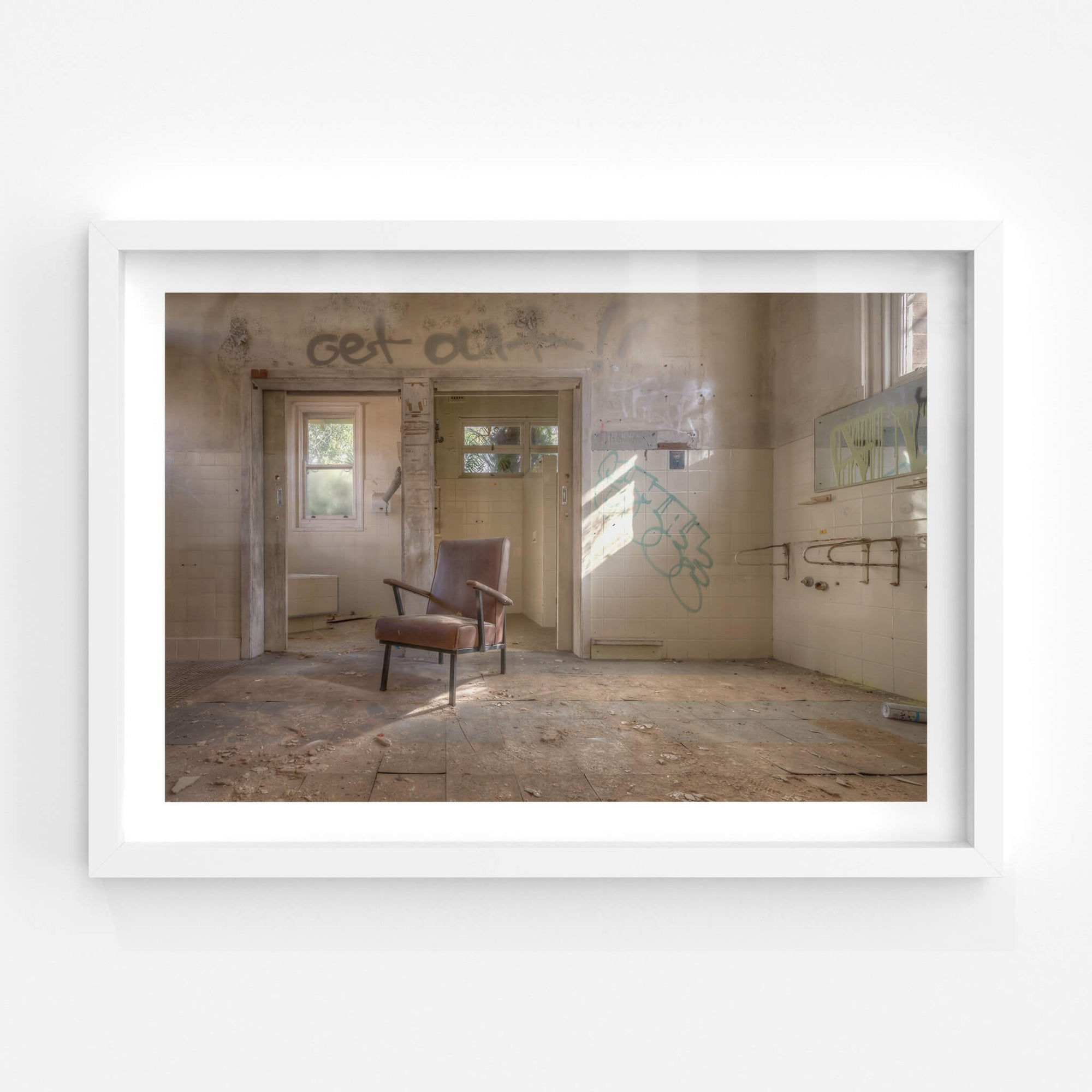 Bathrooms | Waterfall Sanatorium Fine Art Print - Lost Collective Shop