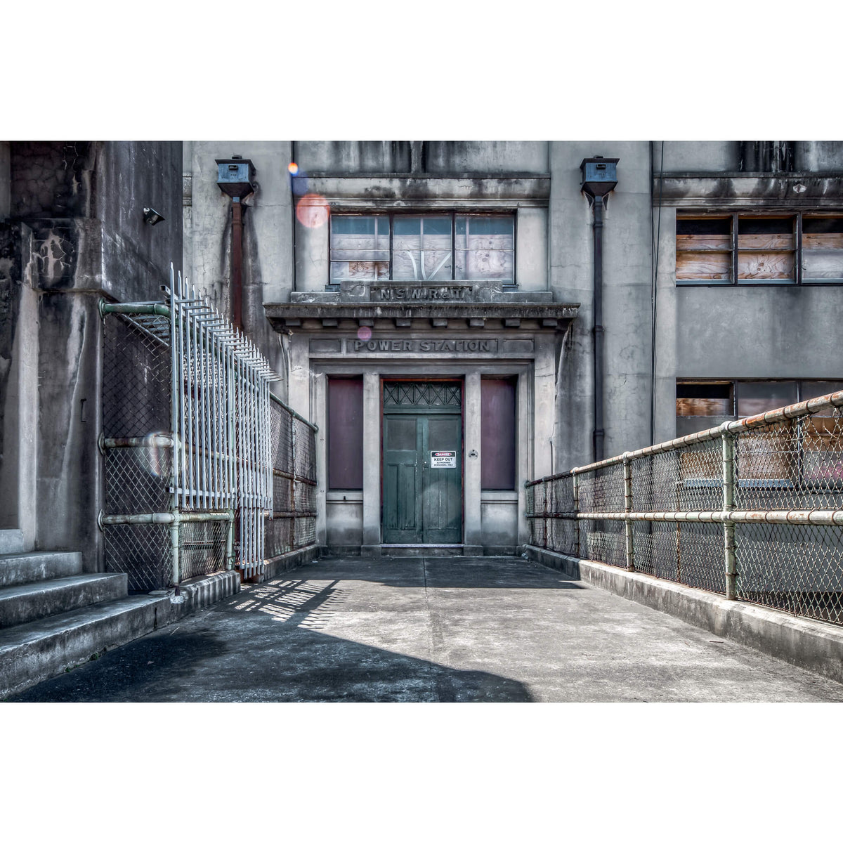 Administration Entrance | White Bay Power Station Fine Art Print - Lost Collective Shop