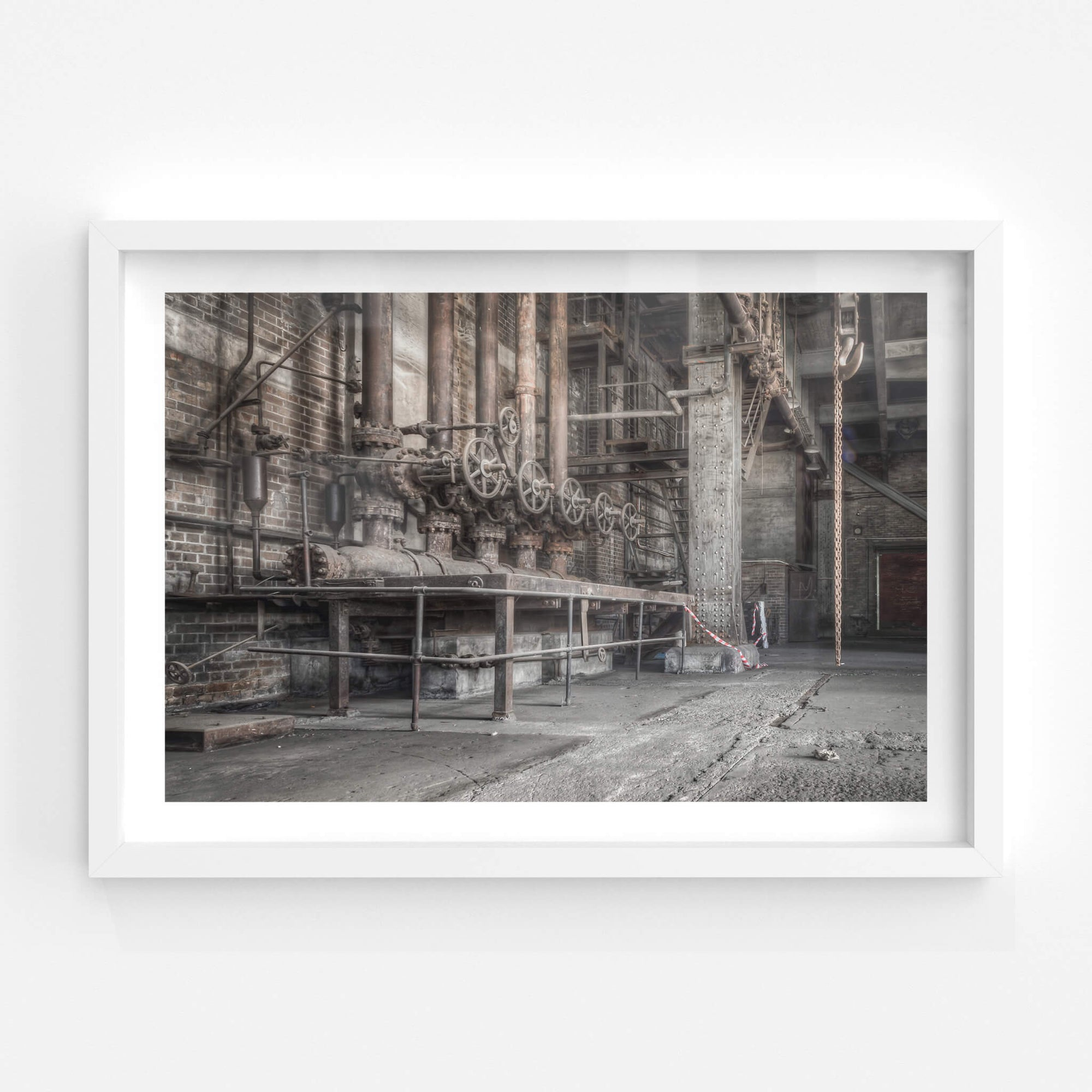 Boiler Feed Valves | White Bay Power Station Fine Art Print - Lost Collective Shop
