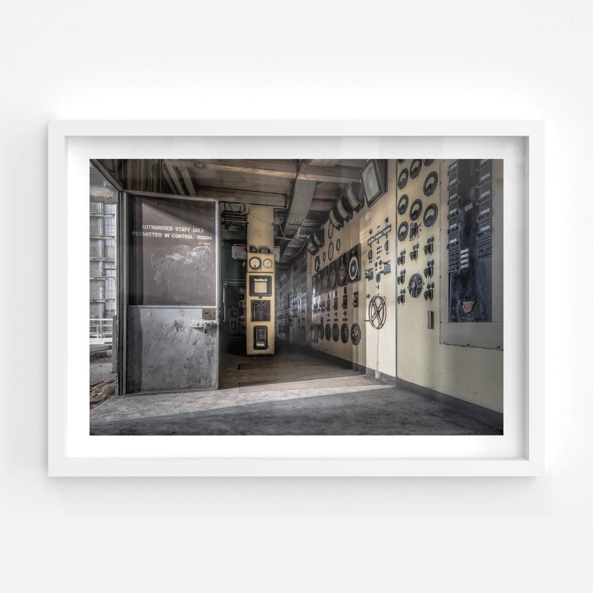 Boiler House Control Room | White Bay Power Station Fine Art Print - Lost Collective Shop