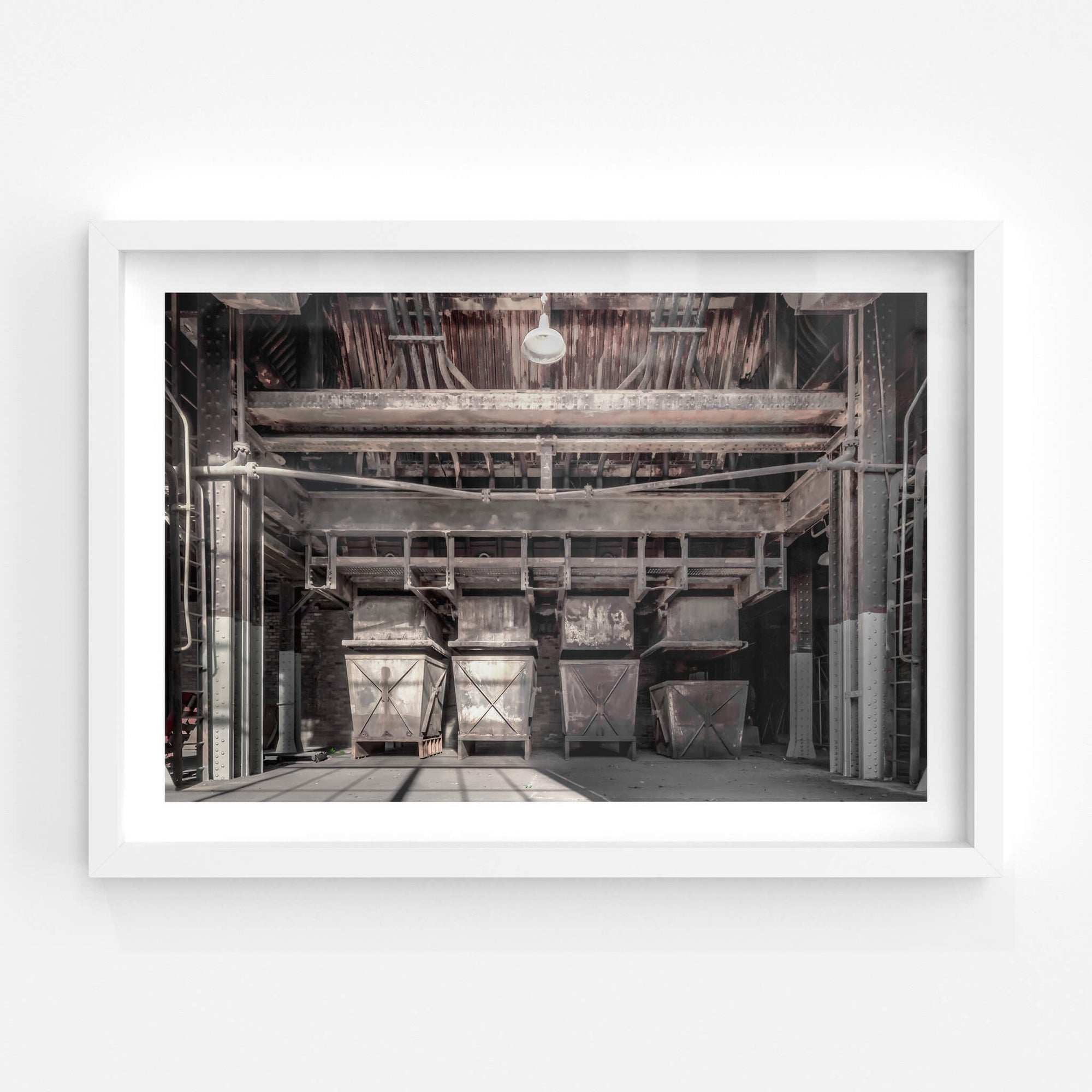 Clinker Bins | White Bay Power Station Fine Art Print - Lost Collective Shop