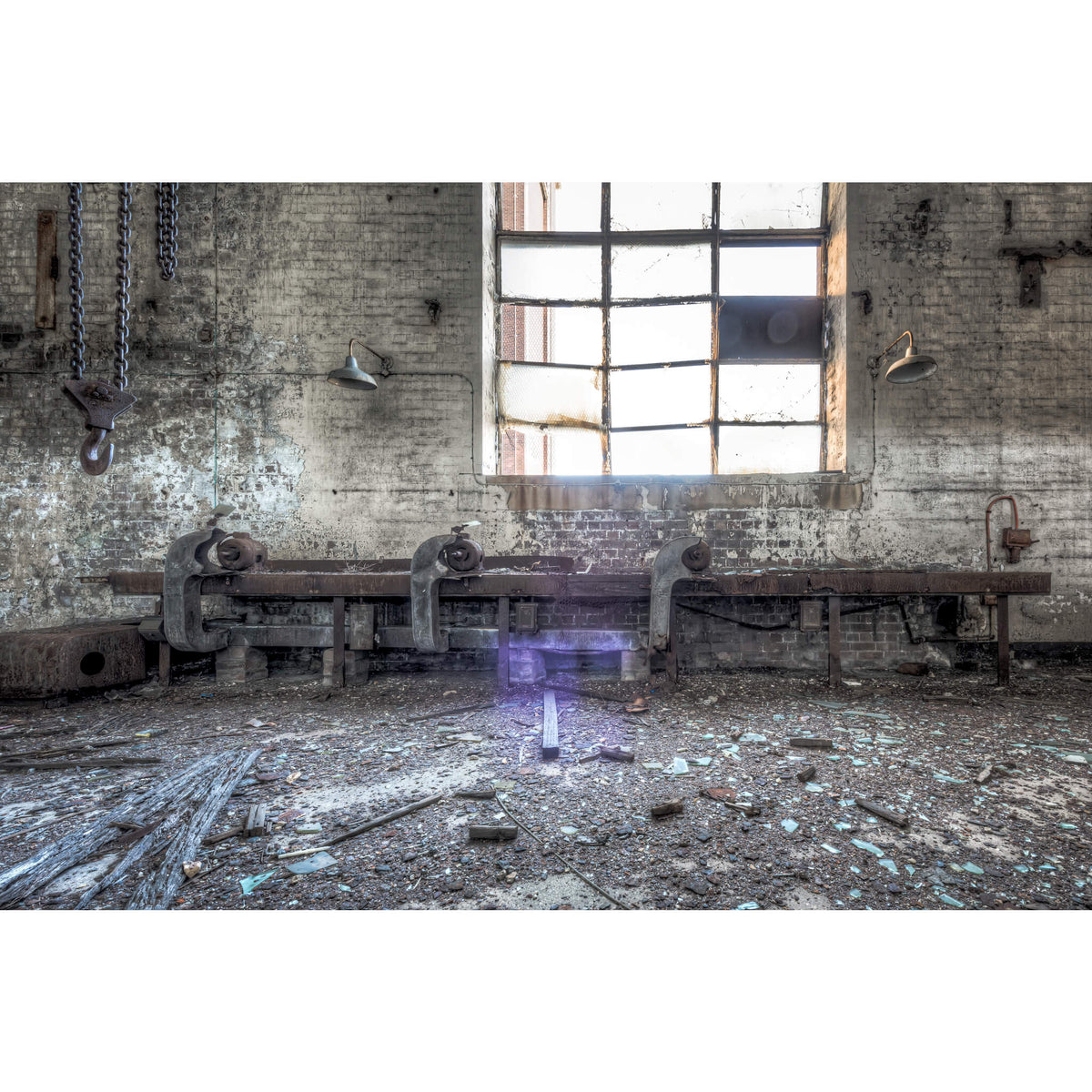 Turbine Hall Work Bench | White Bay Power Station Fine Art Print - Lost Collective Shop