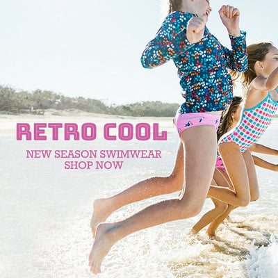 Retro Cool Kids Swimwear - Wave Jumping Mobile