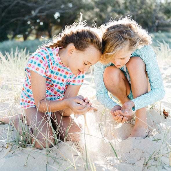 Girls Rashies Sand Dunes Sandy Feet Australia