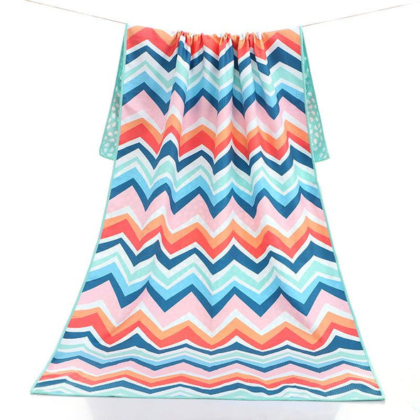 Chevron Colour Burst Beach Towel