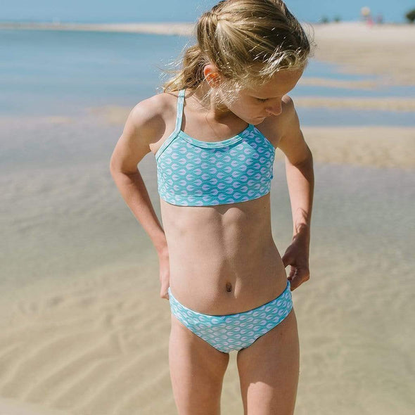 Light Mint Sea of Buds Bikini Bottoms