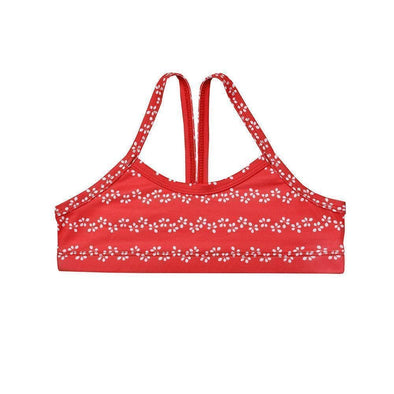 Sandy Feet Australia Bikini Tops Red Leaf Chevron Bikini Top