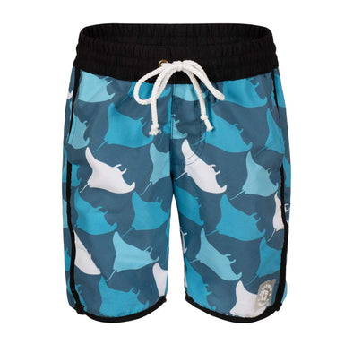 Sandy Feet Australia Board Shorts Blue Manta Squadron Board Shorts