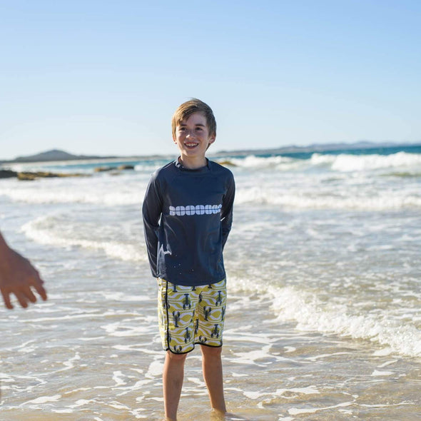 Boys Lemon Lobster Board Shorts