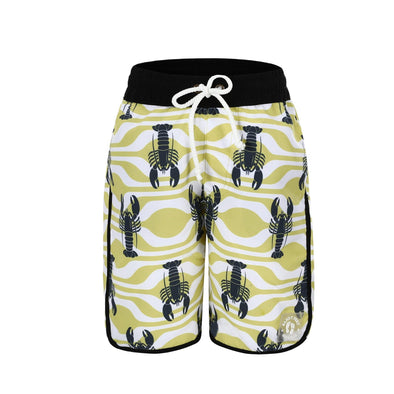 Sandy Feet Australia Board Shorts Boys Lemon Lobster Board Shorts