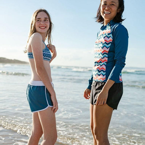 Girls Marine Blue Board Shorts