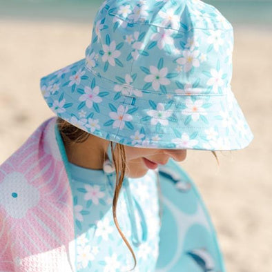 Sandy Feet Australia Hat Blue Hawaii Reversible Bucket Hat