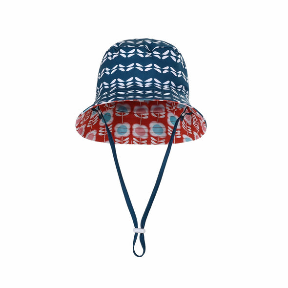 Girls Aegean Flower Reversible Bucket Hat