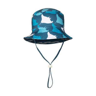 Sandy Feet Australia Hat Manta Fish Line Reversible Bucket Hat