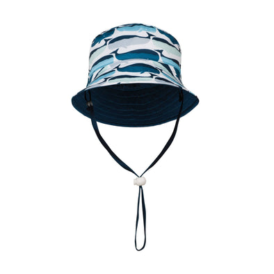 Sandy Feet Australia Hat Navy Whale Reversible Bucket Hat