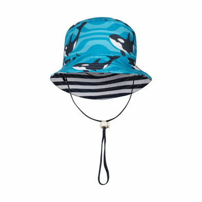 Sandy Feet Australia Hat Striped Orca Reversible Bucket Hat