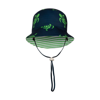 Sandy Feet Australia Hat Striped Turtle Reversible Bucket Hat