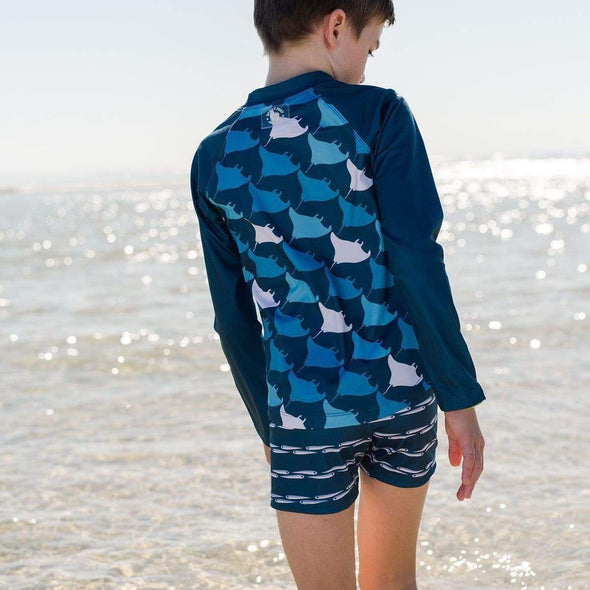 Blue Manta Squadron Long Sleeve Rashie